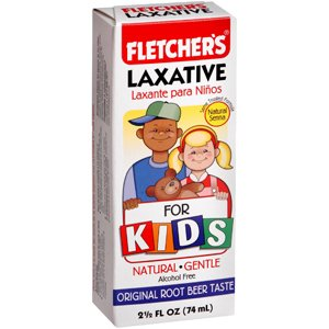 Fletcher's ROOT BEER FLAVORED Liquid Laxative for Kids relieves Constipation - 2.5 Oz