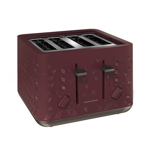 Morphy Richards 248103 Prism Four-Slice Toaster - Merlot