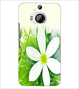 PrintDhaba Flower D-2435 Back Case Cover for HTC ONE M9 PLUS (Multi-Coloured)