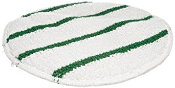 Rubbermaid Commercial FGP26700WH00 Low-Profile 17-Inch Bonnet with Green Scrub Strips, White
