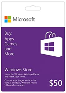 Microsoft Windows Store Gift Card - $50 Value