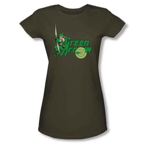 Green Arrow bambini S/S-Maglia militare di DC Comics, colore: verde Verde militare X-Large