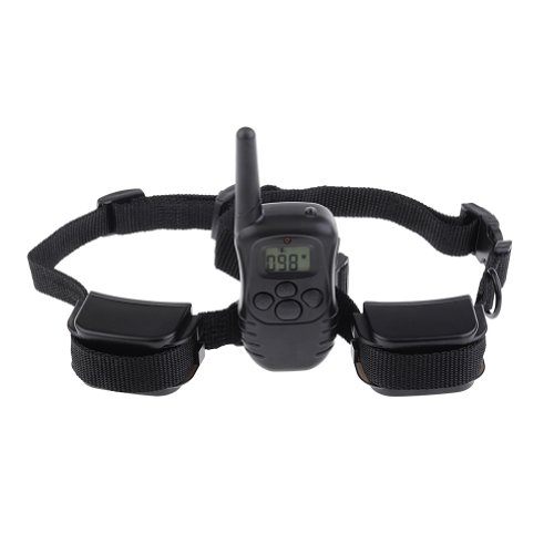Neewer Water-Resistant Rechargeable Up To 300M Range Lcd Remote Shock Control Pet Dog Training Collar With 100 Level Static Shock And Vibration For 2 Dogs, Able To Shock Or Vibrate Each Dog Separately