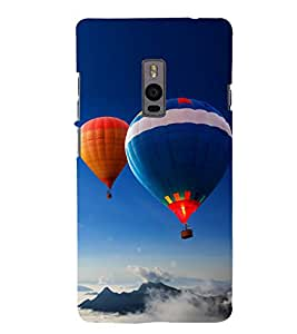 Hot Air Balloon 3D Hard Polycarbonate Designer Back Case Cover for OnePlus 2 :: OnePlus Two :: One +2