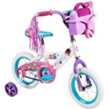 12 Huffy Disney Doc Mcstuffins Girls' Bike with a Traveling Doctor's Bag. Disney Doc Mcstuffins Graphics. Frame: Steel Bicycle Frame in Silver. Gearing: Single Speed. Brakes: Easy-to-use Coaster Brake. Wheels/tires: 12 X 1.75 Sidewalk Hugging Tires. Single-speed Bike Rims: Durable Steel Rims Painted Teal. Handlebars: Hi-rise Handlebar in Purple. Seat: Decorated and Padded Seat with Quick-release for Easy Adjustment. Assembly: Clear Assembly Instructions Included. Age: 2-5 Years.