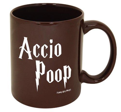 Accio Poop Coffee Mug -- Official Funny Guy Mugs™ Product