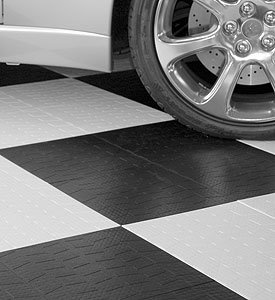 Garage Floor Tiles - Tire Tread - Red