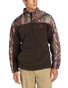 Huntworth men 39 s lifestyle 2 tone fleece 1 4 zip pullover Coloring book zip vk
