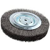 "Lincoln Electric KH322 Crimped Wire Wheel Brush, 4000 rpm, 8"" Diameter x 1-1/4"" Face Width, 5/8"" x 1/2"" Arbor (Pack of 1)"
