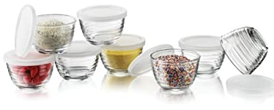 Libbey 6.25-Ounce Small Bowls with Plastic Lids, 16-Piece Set from Libbey