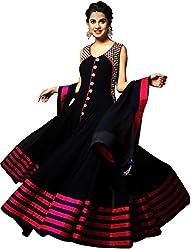 DHAWANI MARKETING BLACK DESIGNER DRESS MATIREAL