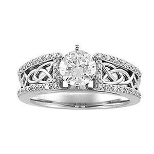 Celtic Mens Wedding Ring 77 Epic Stones
