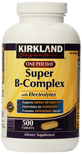 Kirkland Signature One Per Day Super B-Complex with Electrolytes,500 tablets (Super B Complex Energy compare prices)