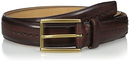 Cole Haan Men's 32mm Stitched Pressed Edge Belt with Perf Detail, Dark Brown, 38 (Cole Haan Belt Brown compare prices)