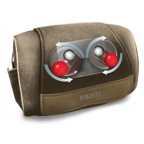 HoMedics Deluxe Shiatsu Cushion Massager for Shoulders, back and neck muscles