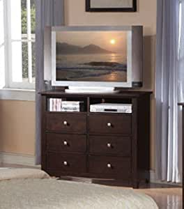 bedroom tv stand storage chest in cappuccino