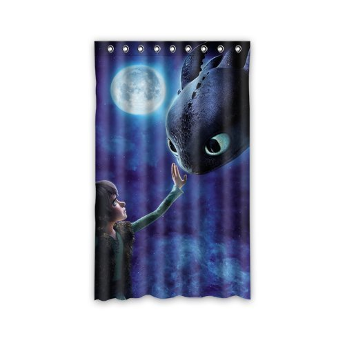 Scottshop Custom How to Train Your Dragon Window Curtain Thermal Insulated Blackout Window Curtains Panel 52