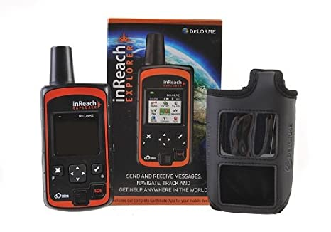 DeLorme inReach Explorer bidirectionnelle par satellite Communicator avec construit dans la navigation avec Black flottage Case En GTC