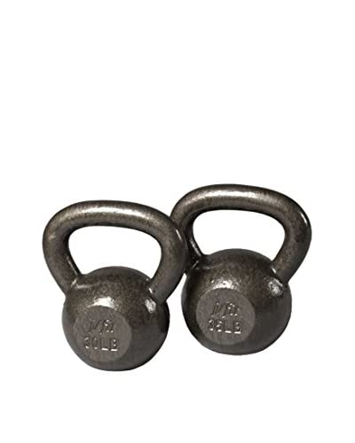 j/fit Cast Iron Set of 2 Kettlebells