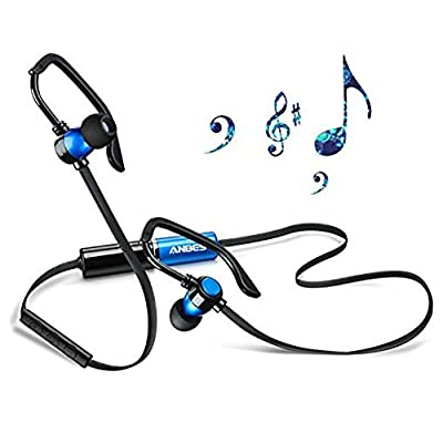 Bluetooth Headset,Anbes Dual replaceable Battery Music V4.1 Bluetooth Wireless Sports Gym Excercises Sweatproof Earbuds Noise Cancelling In-ear Headphones With Mic for Smartphones Devices