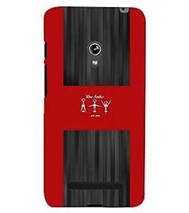 PrintVisa Quotes & Messages Wine Aerobics 3D Hard Polycarbonate Designer Back Case Cover for Asus Zenfone 5