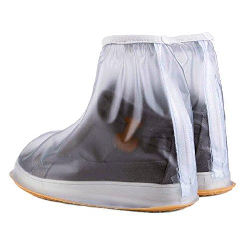 Anple 1 Pair of Men Anti-slip Reusable Rain Shoe Covers Wate