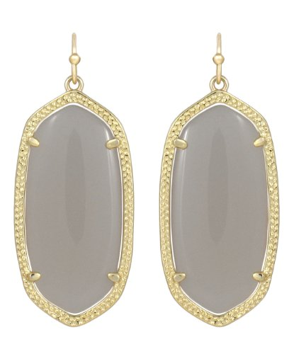 Kendra Scott Elle Earrings in Slate Cats Eye & 14k Gold Plated