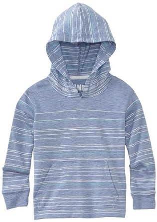 Micros Little Boys' Hooks Long Sleeve Henley Thermal Shirt, Heather Blue, 3T