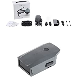 DJI CP.PT.000498 Mavic Pro Drohne grau + DJI CP.PT.000587 Mavic Intelligent Flight Battery grau