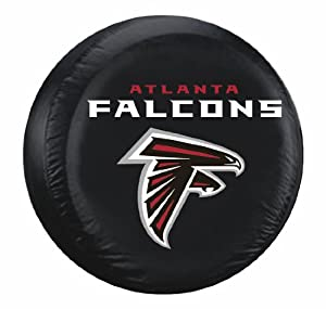 Atlanta Falcons Black Tire Cover - Standard Size by Hall of Fame Memorabilia