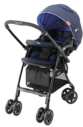 アップリカ ハイシートベビーカー Carry Travel System ラクーナ2015 ブルーベリーコンフィチュールNV 【CTS対応品】(オート4輪機能 & メディカル成長マモール付) 92996