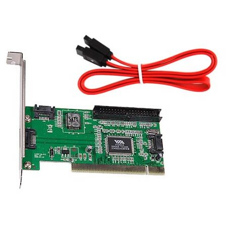 SODIAL(TM) SATA PCI carte d'extension avec 4 ports & IDE passant les chips VT6421a