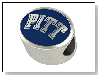 Pitt Panthers Collegiate Bead Fits Most Pandora Style Bracelets Including Pandora Chamilia Zable Troll and More. High Quality Bead in Stock for Immediate Shipping. Officially Licensed
