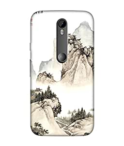 Motorola Moto G Turbo Designer / Printed Back Cover -(pattern)