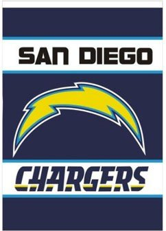 "NEOPlex 28"" x 40"" 2-sided Outside House Banner - San Diego Chargers at Amazon.com"