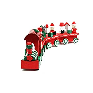 SainSmart Jr. Pilot RT-06 4 Piece Wooden Xmas Train Ornament Gift Toy Red