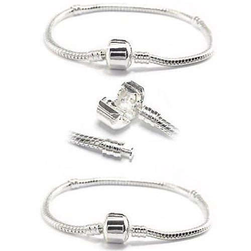 T-W-O Silver Plated 7.5 Inch Bracelets - TWO