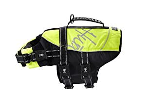 Hurtta Pet Collection Life Jacket 40-80-pound 19-25-inch Neck 26-35-inch Chest Yellow by Hurtta*