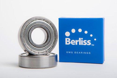 6000-Zz Emq-Berliss, Deep Grove Ball Bearing, Electric Motor Quality, Abec 3, Z2V2, C3 Fit