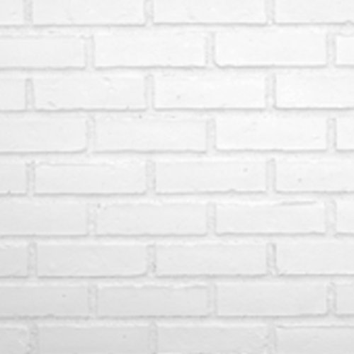 Texture Plus Indoor/Outdoor Siding Panel, Brick, White - Sample