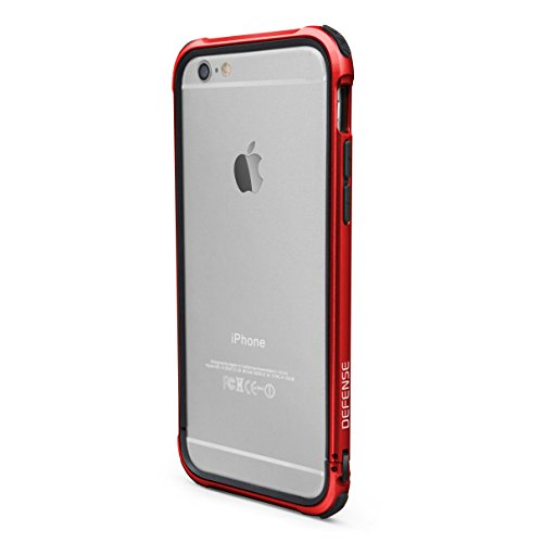 X-Doria Case for iPhone 6 ONLY (Defense Gear), Military Grade Drop Tested iPhone Case, TPU & Aluminum Premium Protective Case, Red (Not for iPhone 6s) (Iphone 6 Metal Bumper Case compare prices)