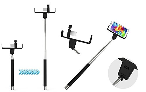 SayCheeze Selfie Stick Bluetooth Wireless All-in-One Adjustable Smart Shooting Monopod with Mirror for All Smart Phones, IPhone6, Galaxy S5 S6