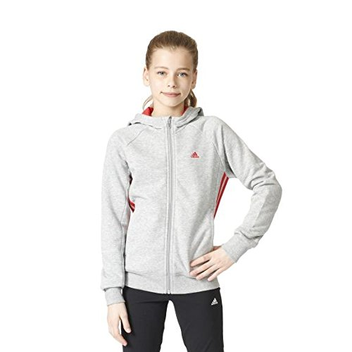adidas-madchen-essentials-mid-3-stripes-kapuzenjacke-medium-grey-heather-ray-red-152