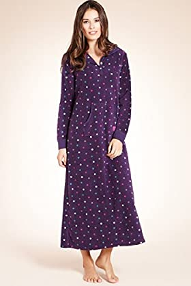 Spotted Long Fleece Hooded Tweet Dream Nightdress