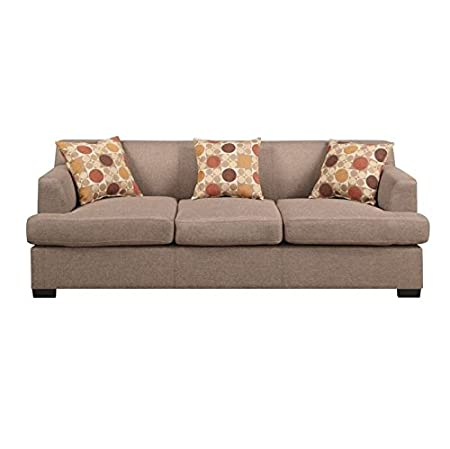 Modern Stone Blended Linen Sofa by Poundex