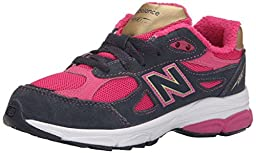 New Balance KJ990I Running Shoe (Infant/Little Kid), Pink/Grey, 3 W US Infant