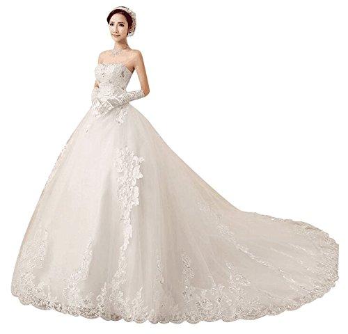 Love Dress White A Line Women Court Train Wedding Dress Us 14