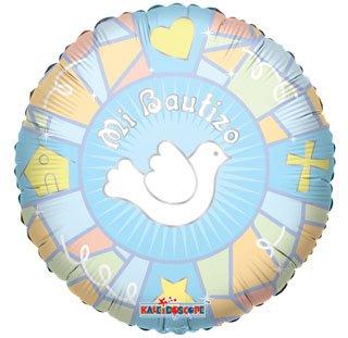 "Spanish Baptism Mylar Balloons Blue Dove 18"" (3 ct) by Kaleidoscope"