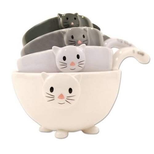 Ceramic cat measuring bowls - how unique