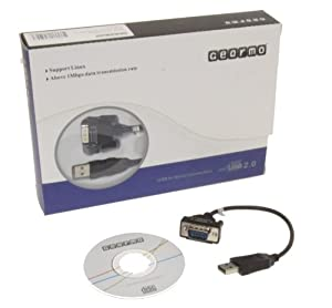 GearMo® Windows 7 64-bit Compatible USB to Serial Adapter RS232 DB9 Short 8 Inch Cable